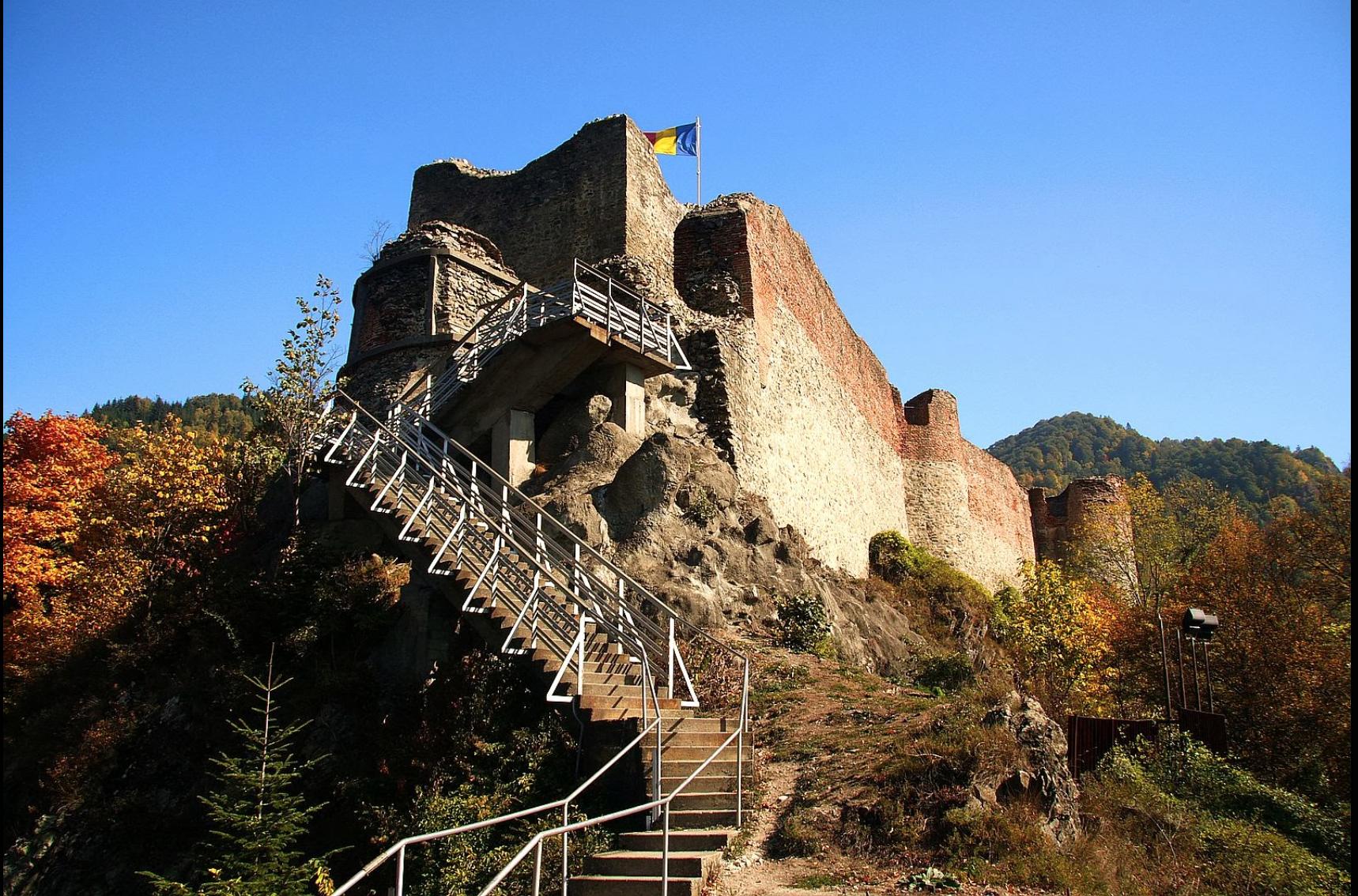 Vlad III's actual castle. http://www.aeolus13umbra.com/2013/10/vlad-dracula-dragons-shadow-balkan.html