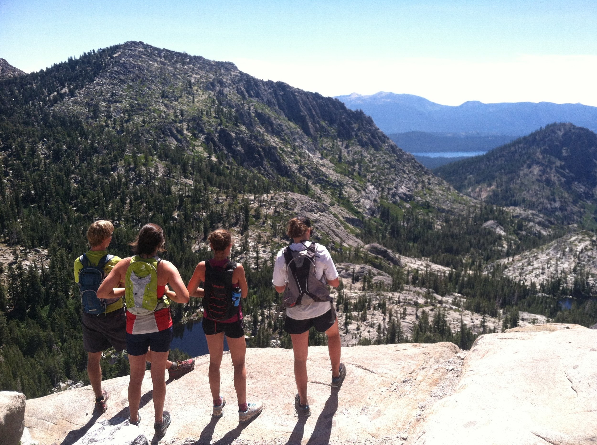 Enjoying the Sierra rocks (running in near Emerald Bay, summer 2014).
