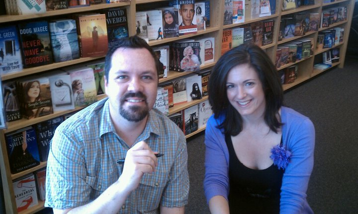 Kevin and Rebecca at a signing for  Legally Dead  in Keene, NH. A smiling face often gets book store shoppers to take a look - even if they were coming in to get  Fifty Shades of Grey .