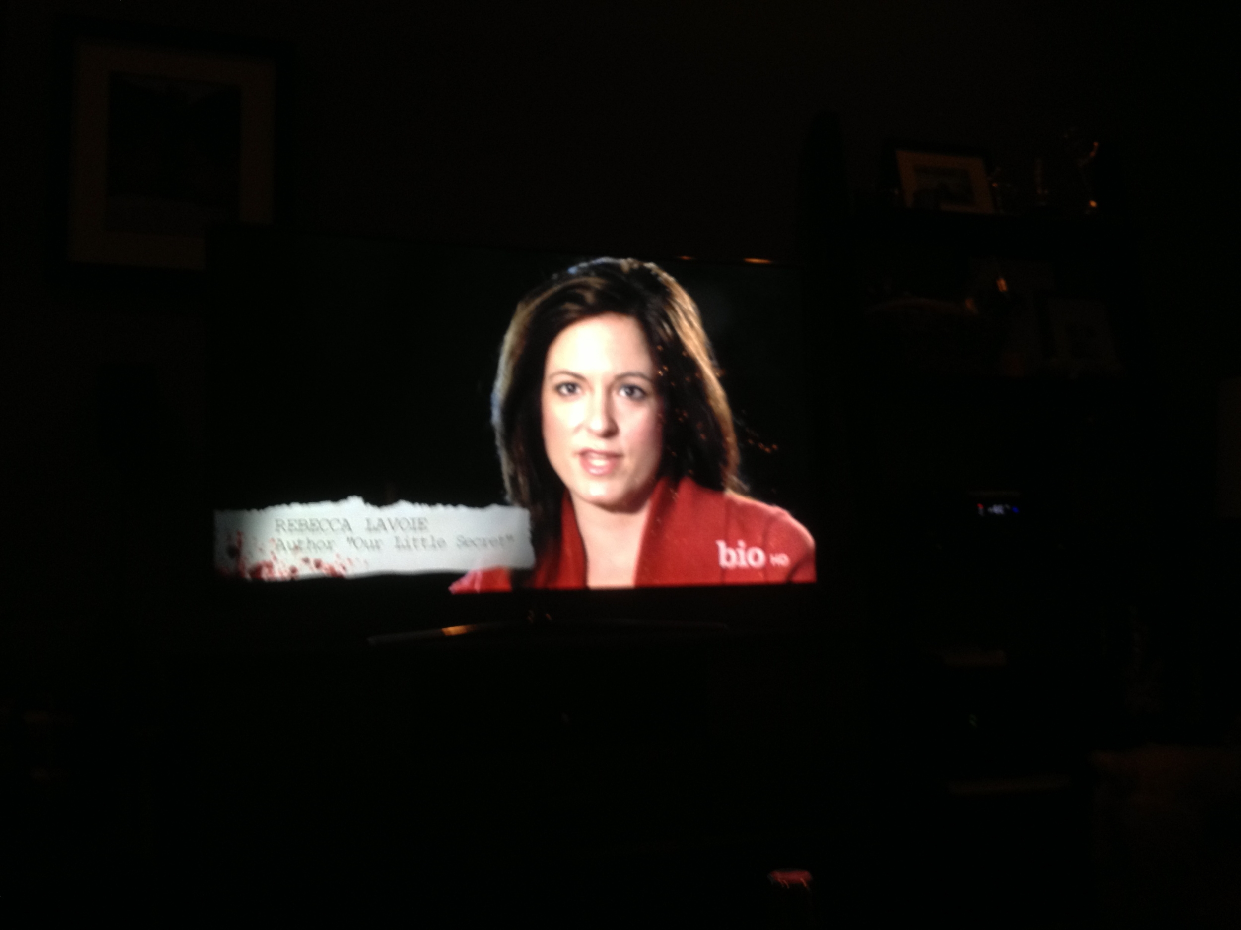 "Rebecca appearing on the television show ""Deadly Alibi."" The couple have made a habit of turning up on a variety of true crime shows."