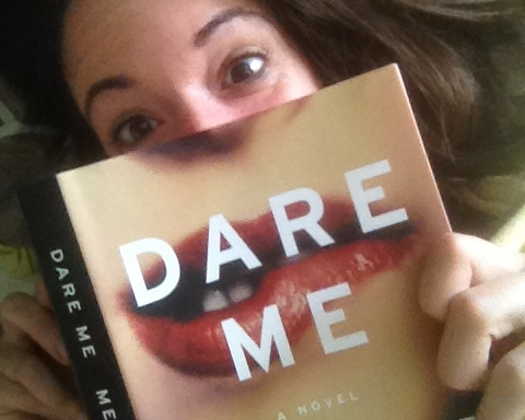 Rebecca is reading an advance reader's copy of Megan Abbott's  Dare Me . Megan, a NYT best-selling noir and crime writer, and Kevin & Rebecca are mutual fans. Megan has been a big supporter, providing a cover blurb for  Notes on a Killing .