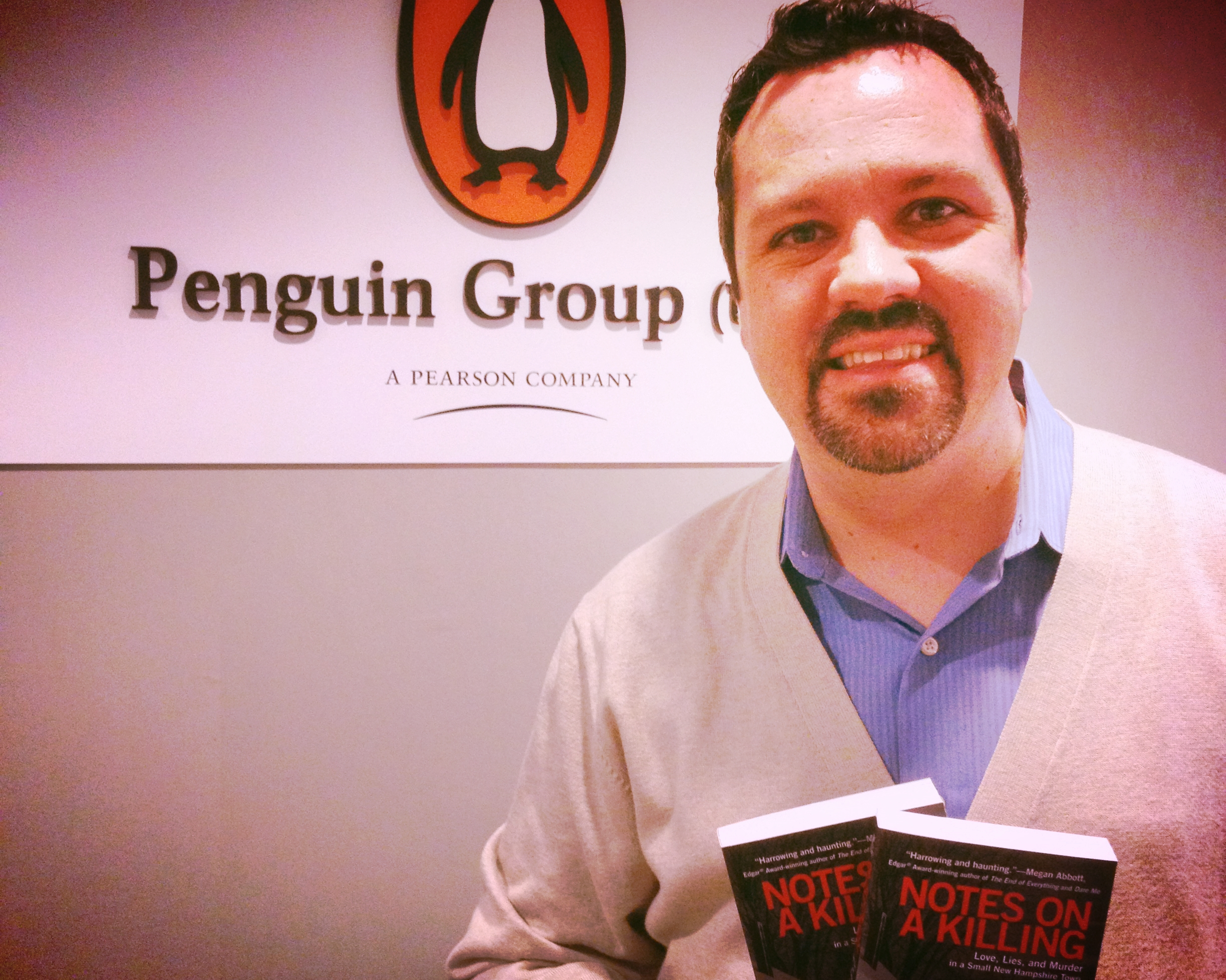 Kevin at the New York offices of Penguin after the publication of  Notes on a Killing . They may be a writing team of two...but an entire staff works to shape and promote every book.