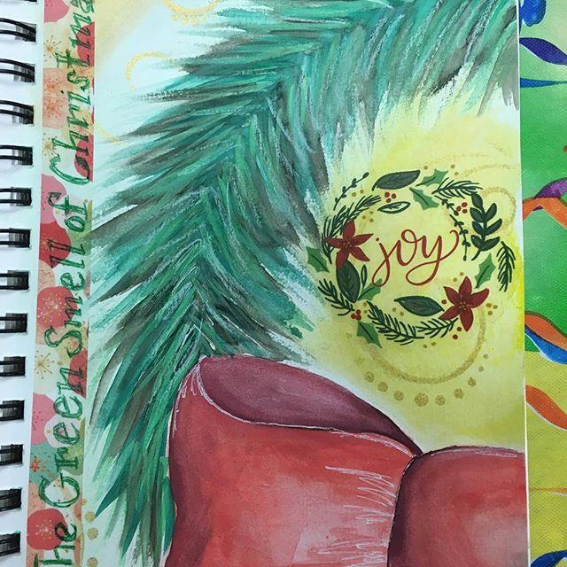 Holiday art journaling. #artjournal