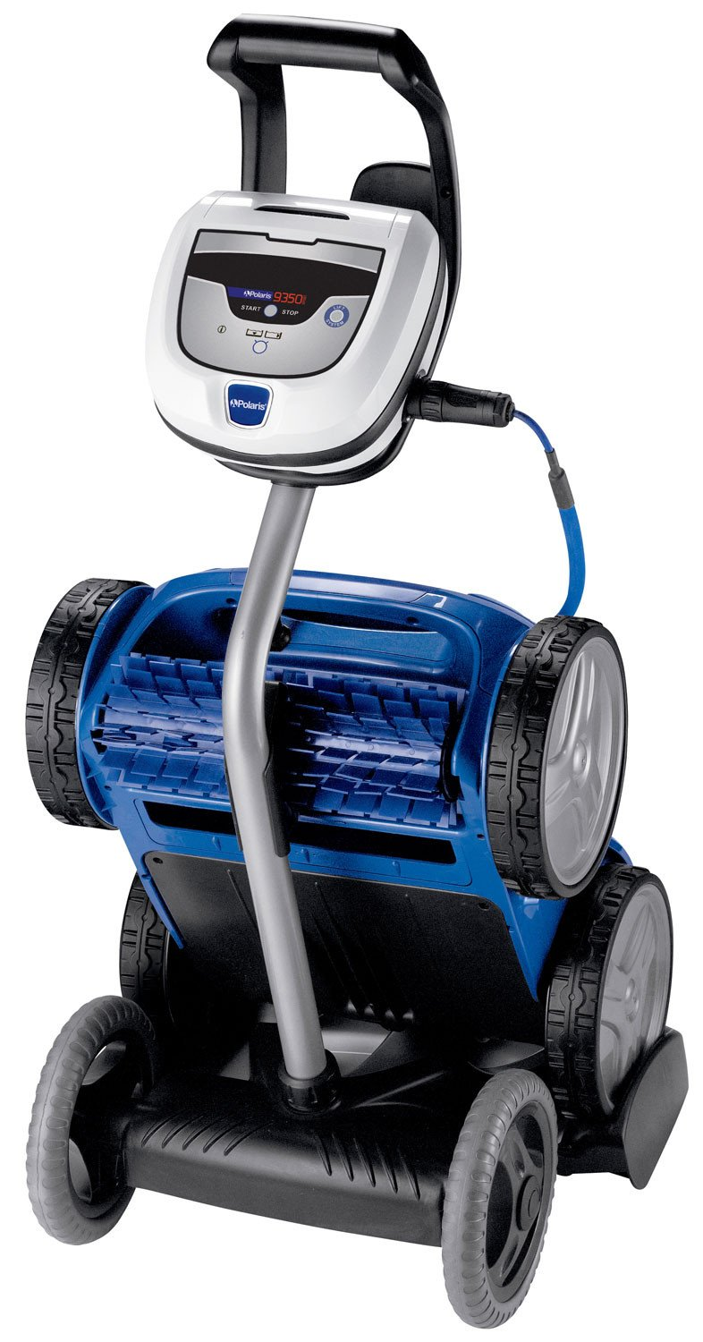 Why go Robotic?    -Self contained, doesn't hook to pump or filter.  -Pleated brushes clean floor,walls, and waterline.  -Tangle-reducing cord swivels  -Easy to empty canister  -They're robotic! Just drop them in the water and it do all the work!  -The 9650iQ features  iAquaLink  control letting you use on-demand features with a smartphone or other smart devices! From anywhere!