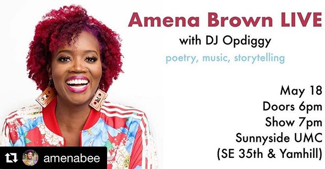 Party People of Portland! I'm spinning with my favorite poet @amenabee this Sat night. Tix in her bio See you there 👊🏻 . #Repost @amenabee with @get_repost ・・・ PORTLAND, OR peeps! @opdiggy and I can't wait to see you THIS SATURDAY! Get yo tix so you can be in the place to be! Ticket link in bio!