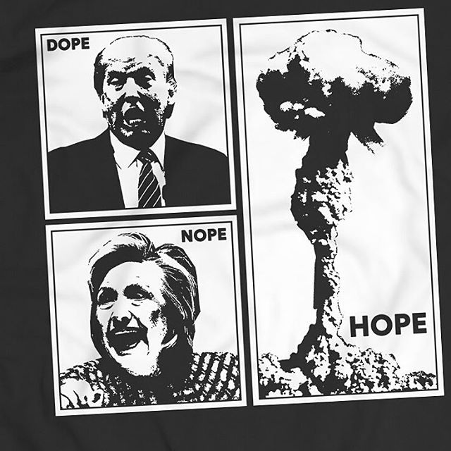 Better view of the graphic.  ALL ORDERS MUST BE PLACED BY SUNDAY, OCTOBER 23rd!  WWW.THATGRZLY.COM  #grzly #thatgrzly #newjersey #idiocracy #donaldtrump #hillaryclinton #jesustakethewheel #fucked