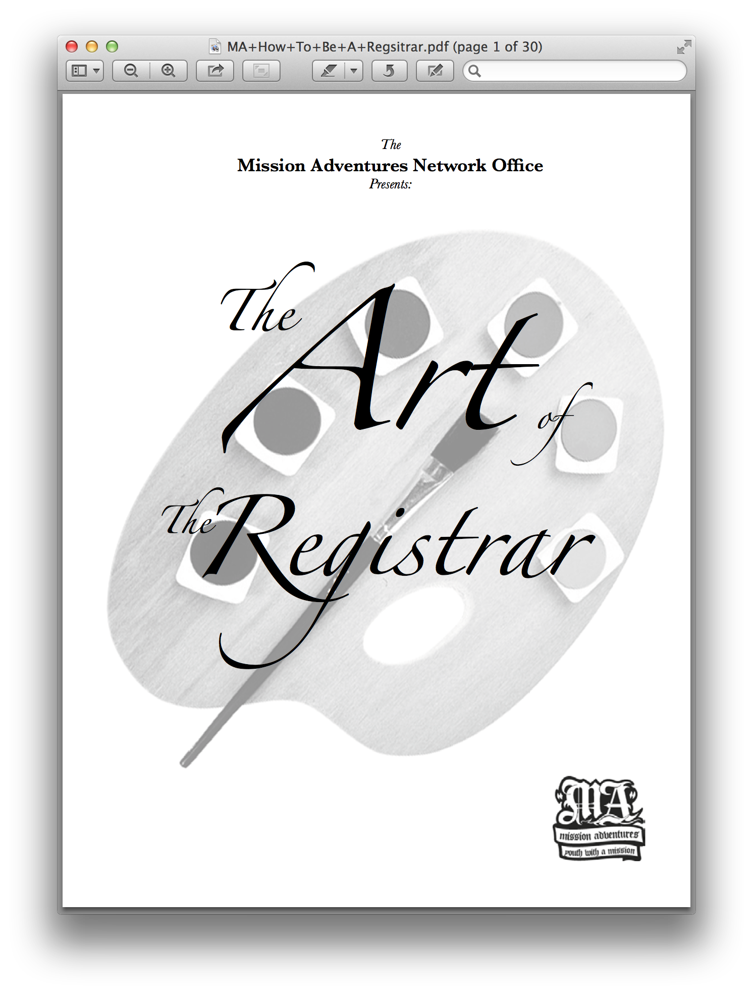 The Art of the Registrar  Step-by-step instructions on how to develop your own registration process to easily and efficiently register teams for your outreaches
