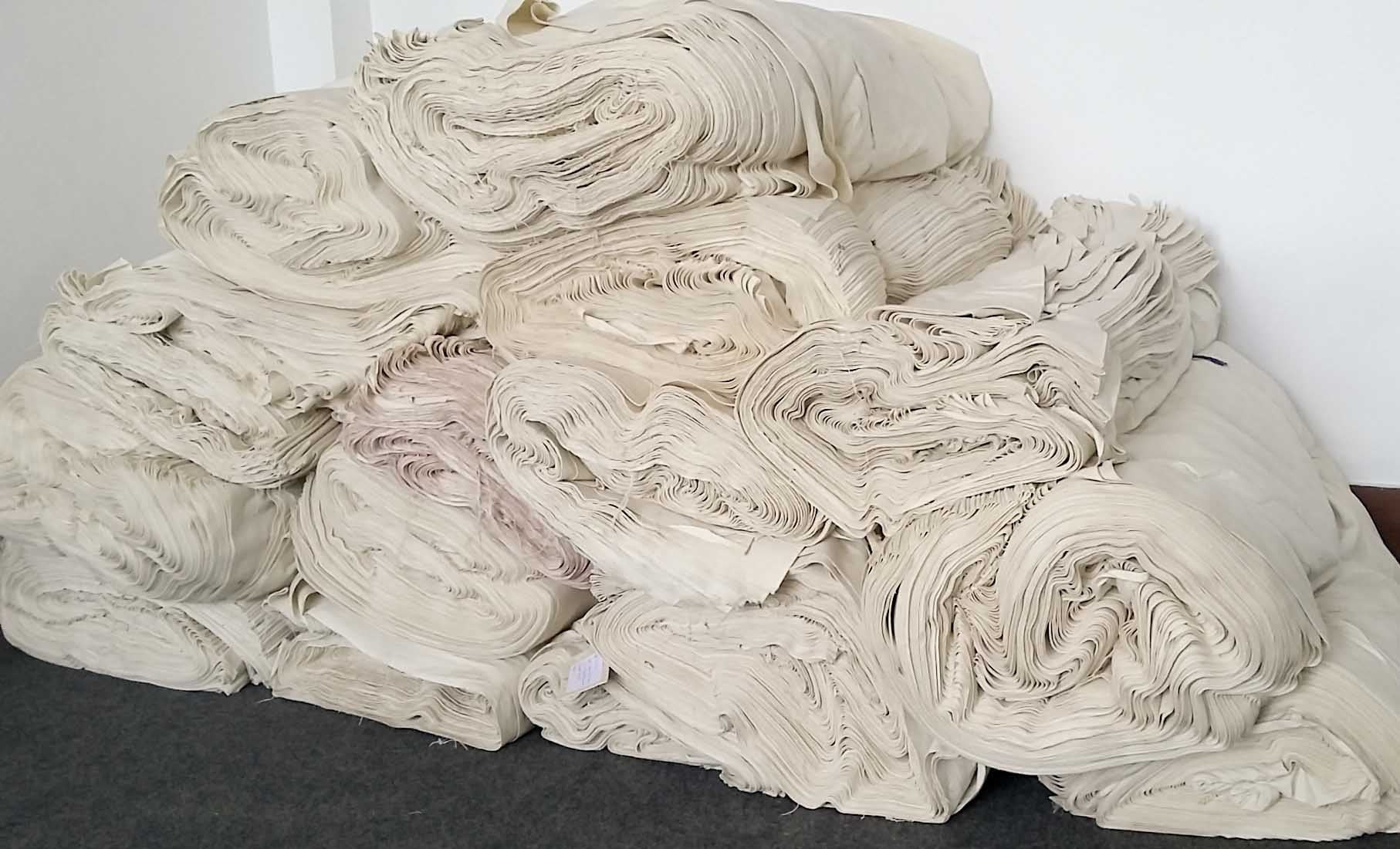This is what a mile of Nepali cotton canvas looks like!
