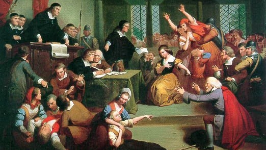 The Trial of George Jacobs, August 5th, 1692    by T.H. Matteson -- Wikimedia Commons (Public Domain)