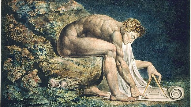 Newton   by William Blake -- Wikimedia Commons (Public Domain)