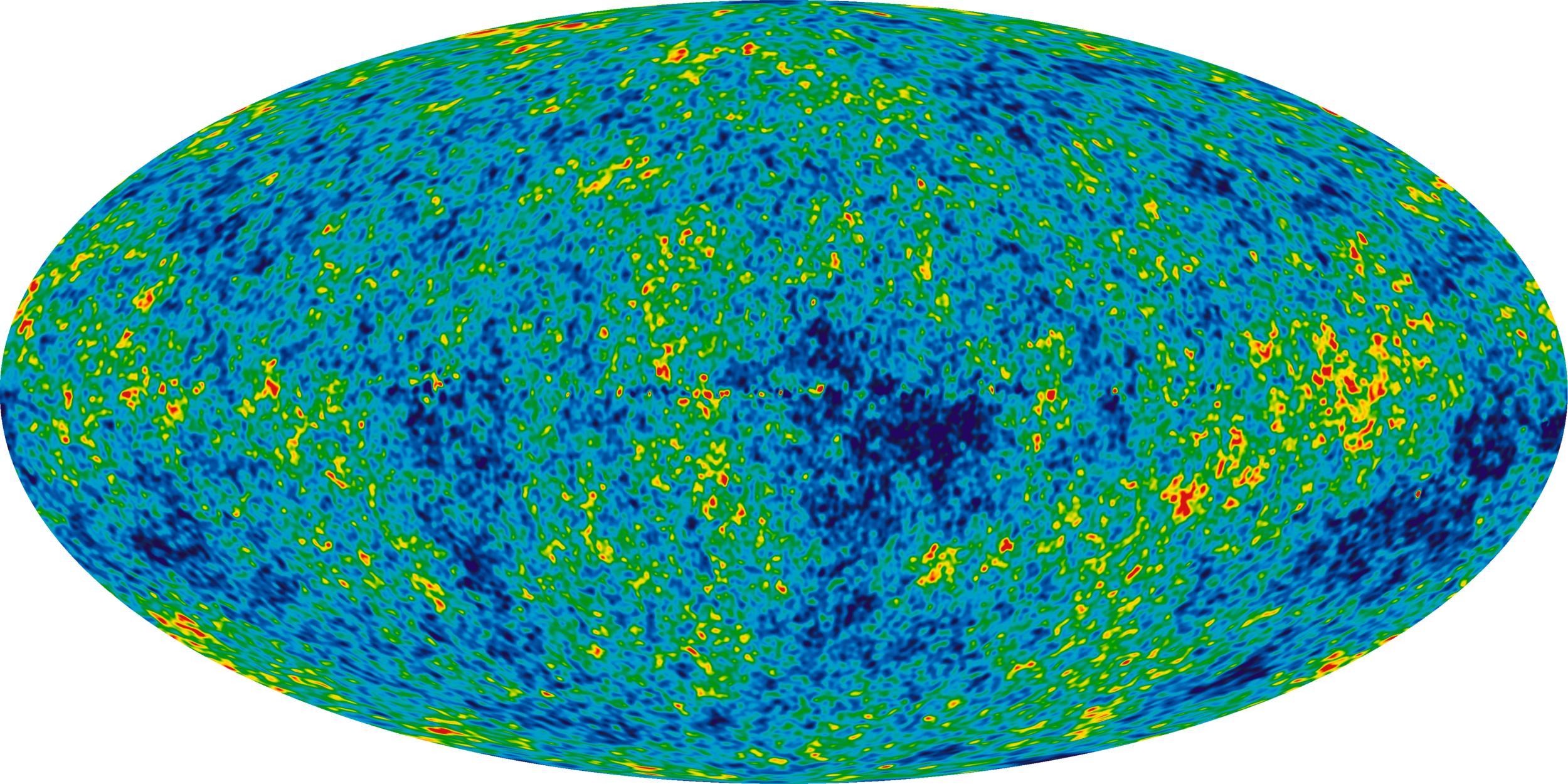 Leftover heat from the Big Bang (   background radiation   ), by NASA -- Wikimedia Commons (Public Domain)