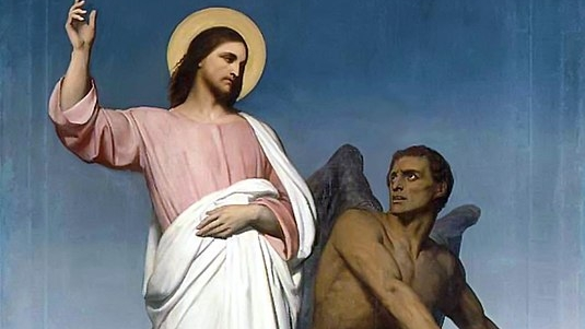 Temptation of Christ   , by Ary Scheffer (1854) — Wikimedia Commons (Public Domain)