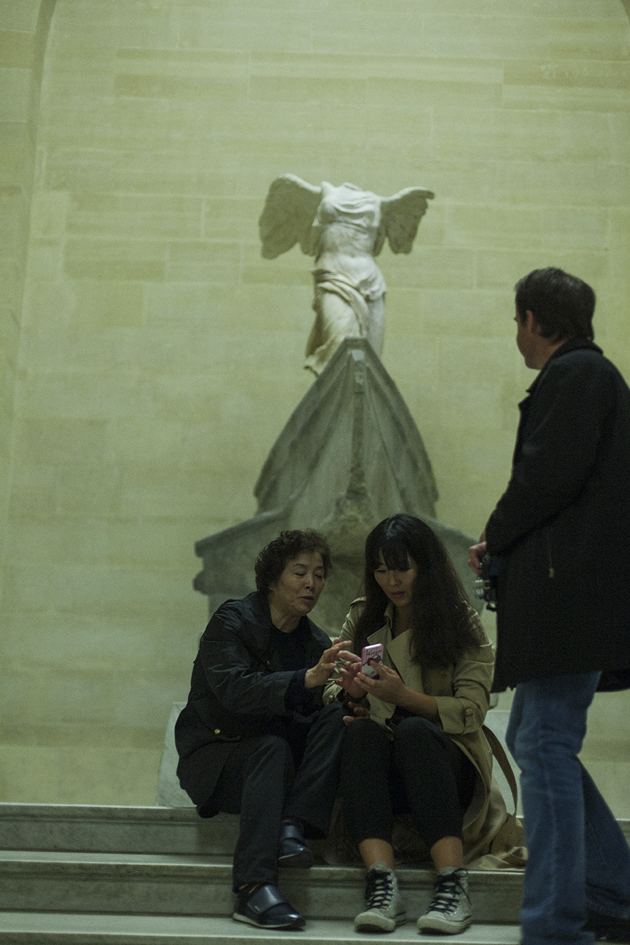 """IN A WORLD WHICH  REALLY  IS  TOPSY-TURVY , THE TRUE IS A MOMENT OF THE FALSE.""  GUY DEBORD      Louvre Nº1"