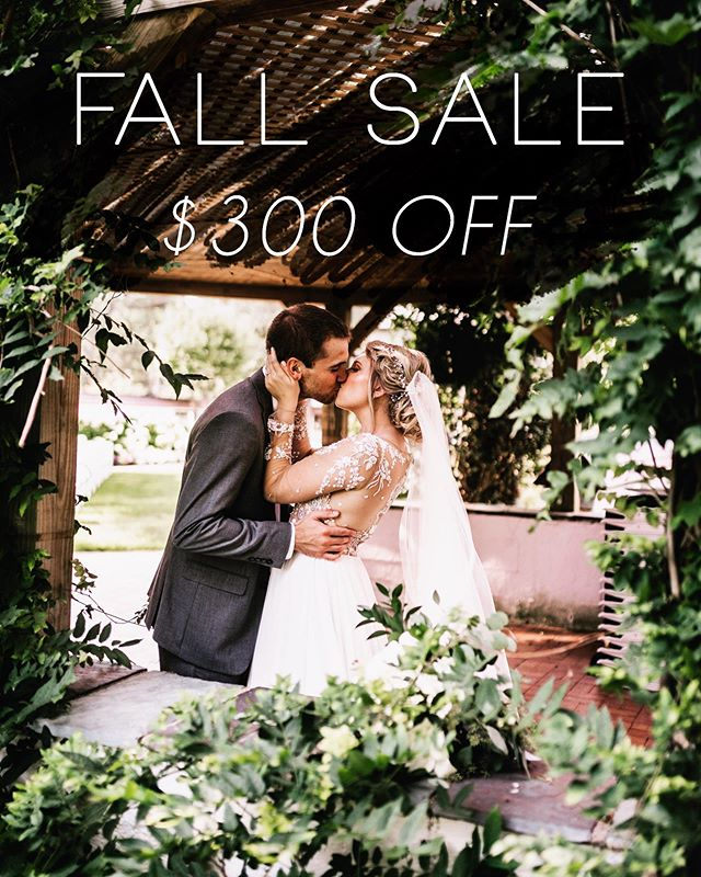 Did someone say FALL SALE?! Calling all brides and grooms, if you're still looking for your wedding photographer, I'm offering $300 off ALL Wedding Collections for new inquiries!  If you book your future wedding date with me by October 31, 2019 then you can take advantage of this limited time offer.  New inquiries only, so if you know someone recently engaged or still looking for their perfect fit in a photographer, tag them below! Let's chat details and options over a hot cup of coffee (or mulled cider!), and let's make some photo magic! ✨🥰
