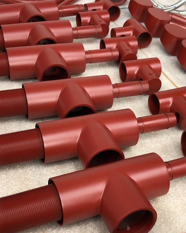 More than just firearms; Cerakote Crimson Res on these faucet parts.  #Cerakote #Red #Crimson #sink #CrimsonRed #Custom #Luxury #FortWorth #Texas