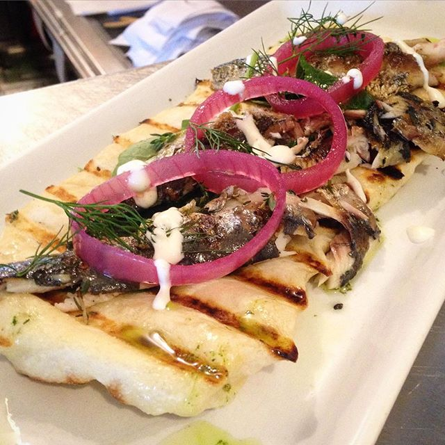 Grilled Sardines with Pickled Onions #special #torontorestaurants #torontofood #junction #junctionto #omnomnom #foodporn #foodspecials #rouxstir