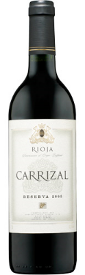 Carrizal Rioja Riserva  - a mellow wine that's easy on the palate with a smooth finish laced with caramel