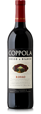 Francis Ford Coppola Rosso  - the supple texture and rich, juicy flavors of plum, cherries, mocha, and strawberry jam make this wine a perfect accompaniment to almost any meal