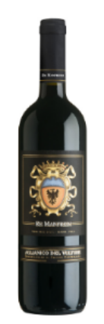 Re Manfredi Aglianico del Vulture  - distinct scents of sweet vanilla and caramel mingle with fruity notes of black currant and blackberry to create a deliciously smooth wine