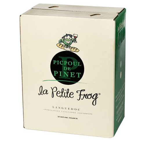 La Petite Frog Picpoul De Pinet  - nice citrus on the nose, slightly tart with a little zing of grass and lemon on the palate