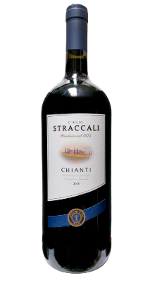 Straccali Chianti  - a dry, medium-bodied red that has flavors of cherry and strawberry, with dried herb notes, with well-balanced acidity and tannins on finish