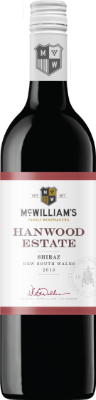McWilliam's Shiraz  - dry and fruit-forward, with raspberry, black cherry, plums, vanilla, and a touch of oak, this wine is a flavor powerhouse at a great value