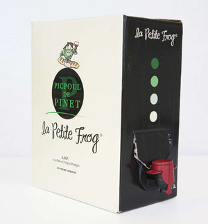 La Petite Frog Picpoul de Pinet ($24) – don't knock the boxed wine, friends—you can't beat $24 for 6 bottles' worth. Perfect for a sangria party!