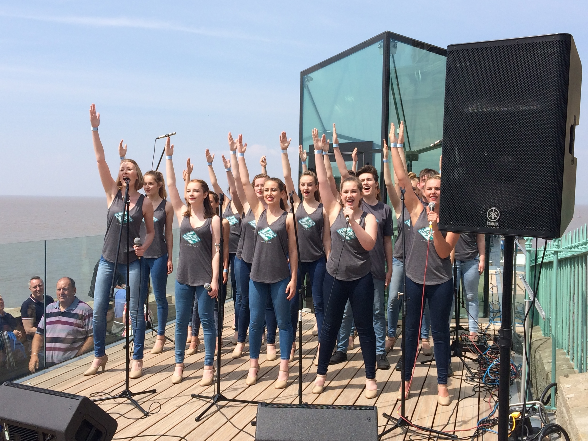 Amplify performing on Clevedon Pier