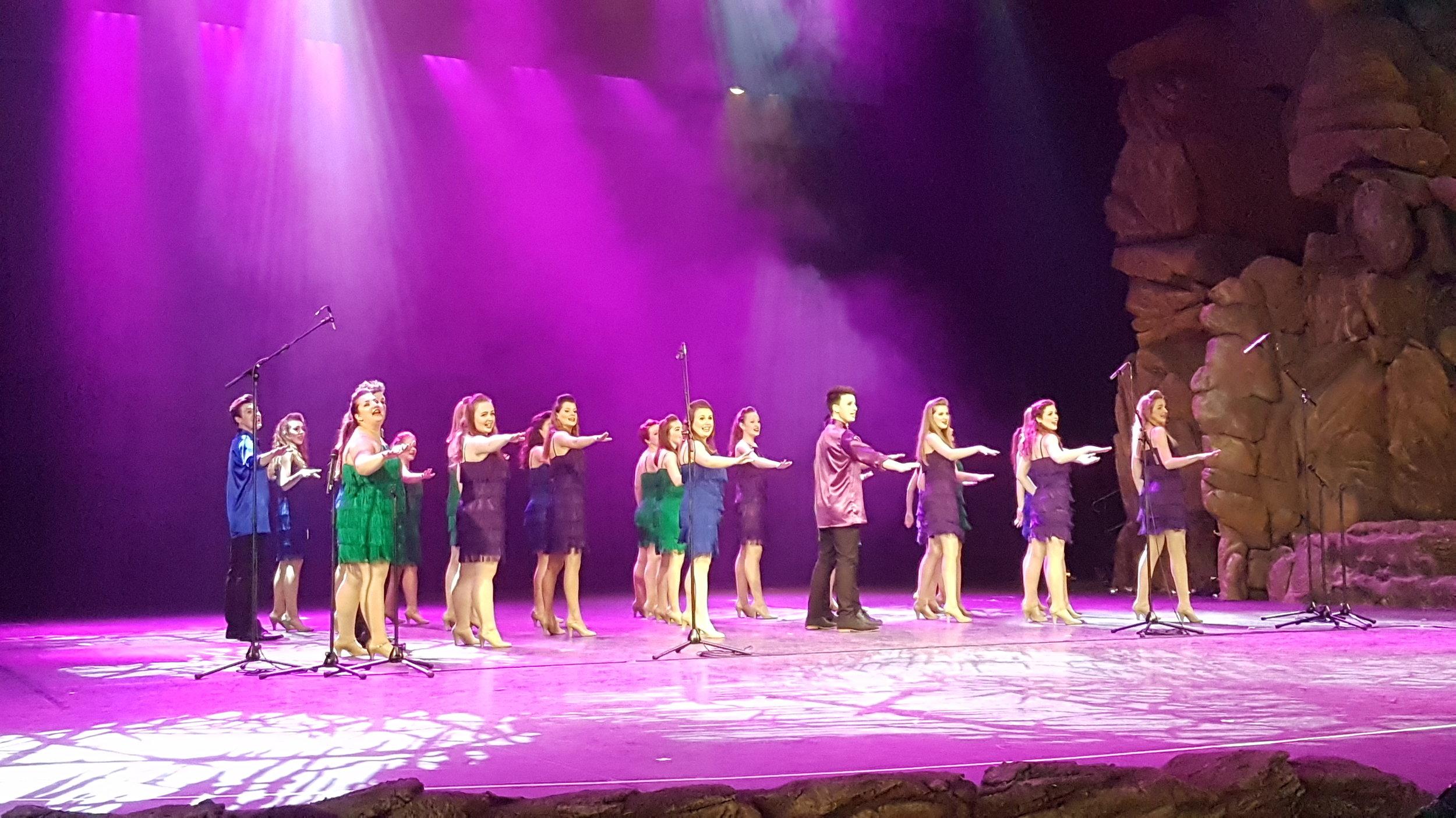 Amplify performing Cheek To Cheek in Disneyland Paris