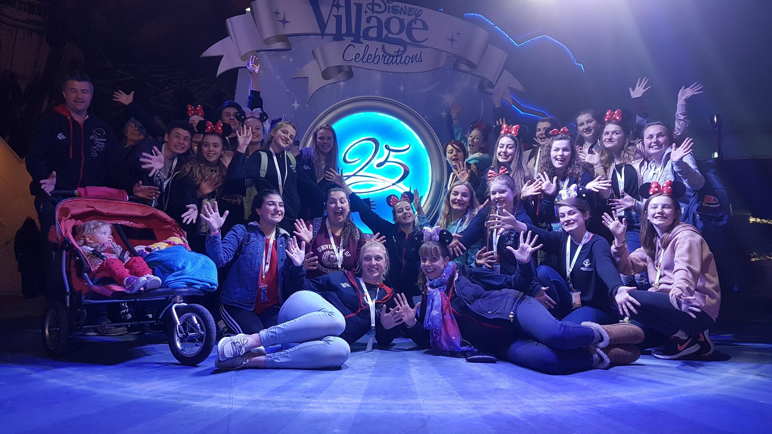 Amplify and team in Disneyland Paris