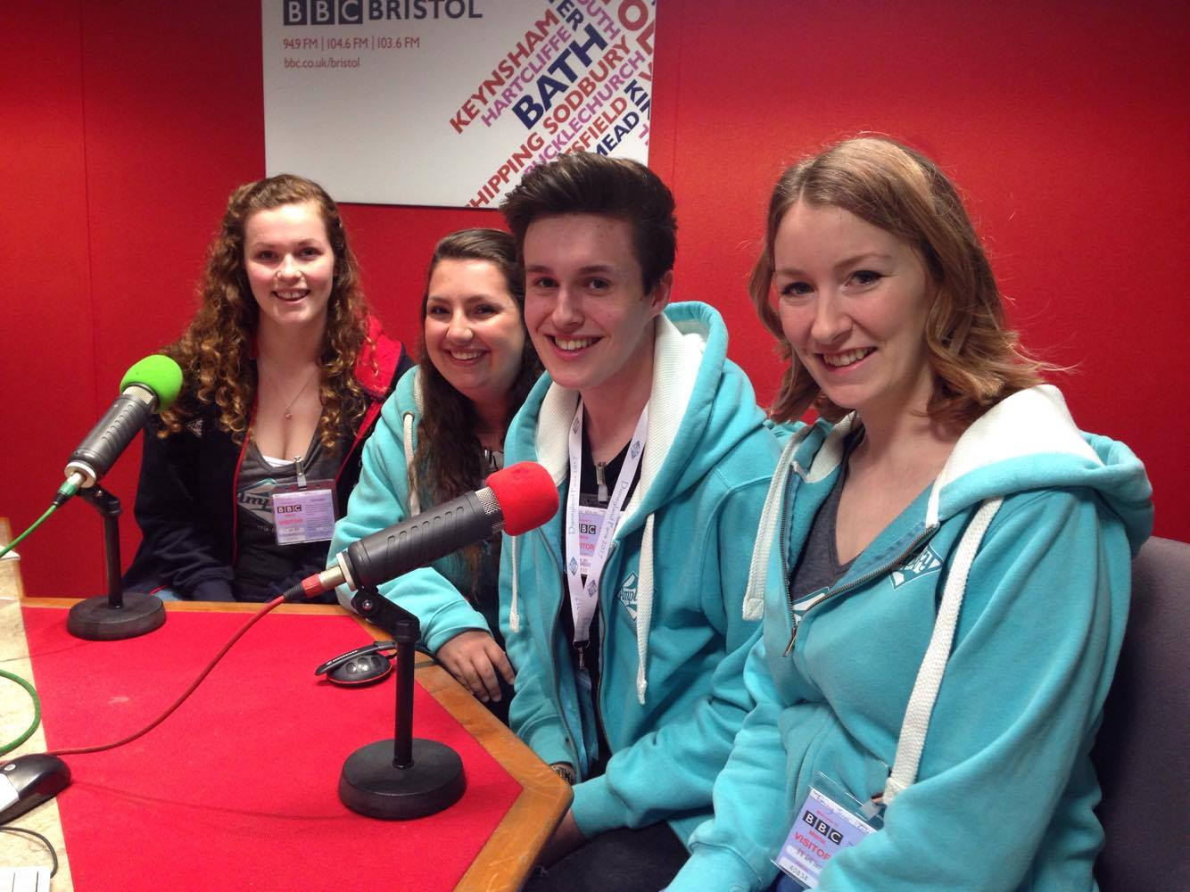 Some of our Amps at BBC Radio Bristol being interviewed about the upcoming performance in Disneyland Paris