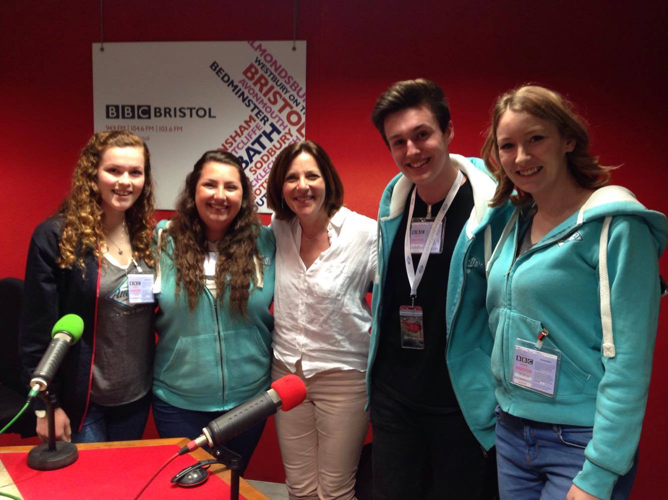 Some of our Amps with host Ali Vowles at BBC Radio Bristol being interviewed about the upcoming performance in Disneyland Paris