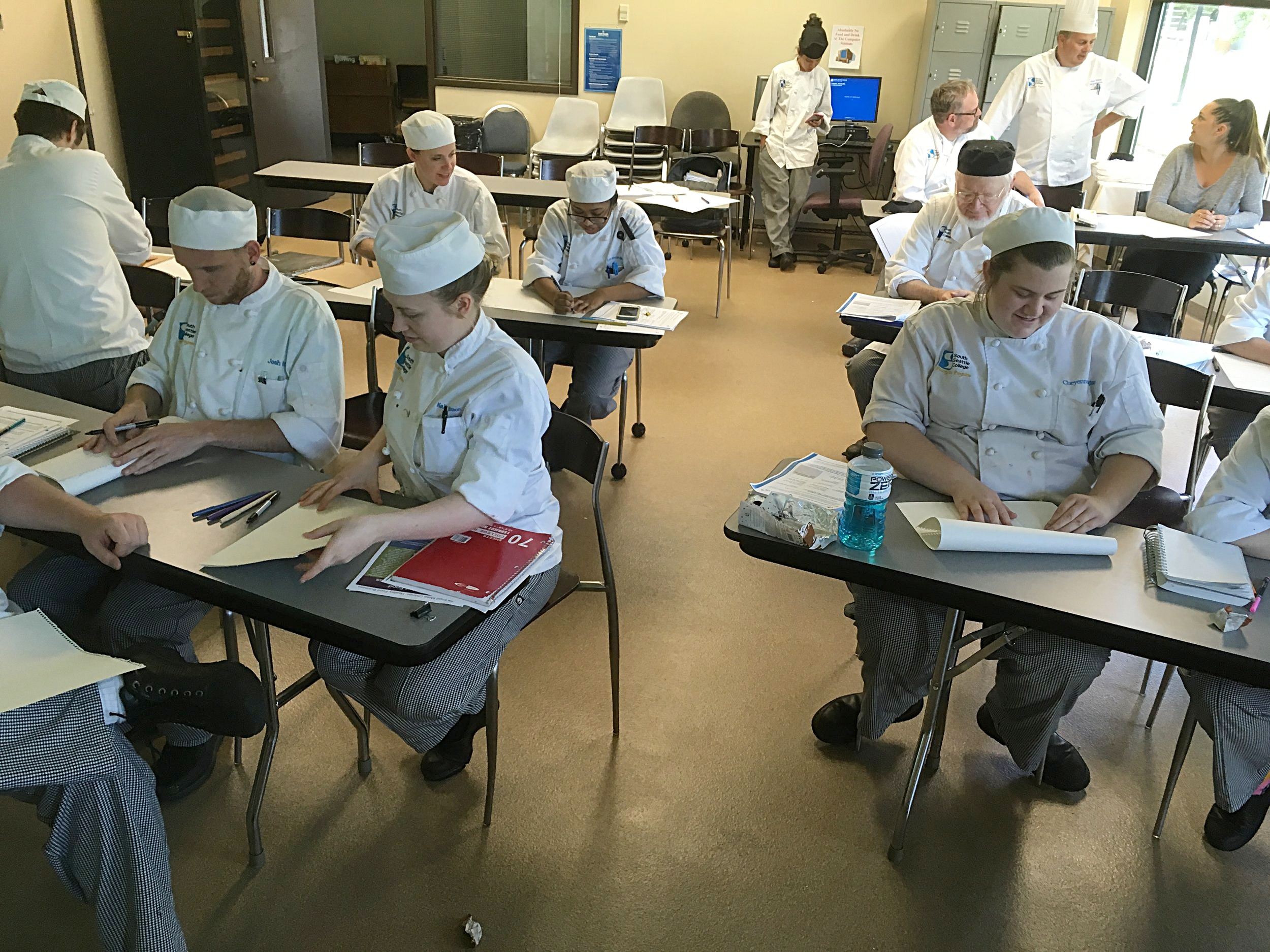 Workshops happen in King, Snohomish, and Pierce County, either independently or embedded in other programs, such as this series that was part of a culinary arts class at South Seattle College.