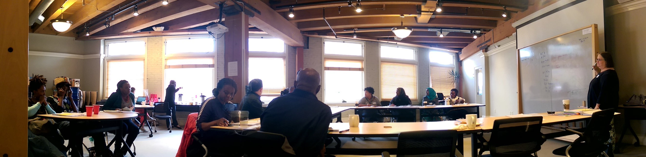 "First Step is a ""reality check"" designed to help assess readiness and the feasibility of a business idea and get to a quick ""go or no go"" decision. This class is approximately 8 hours, offered in group sessions. It is held monthly at multiple locations. We also offer this series through partnerships with organizations such as MarketShare."
