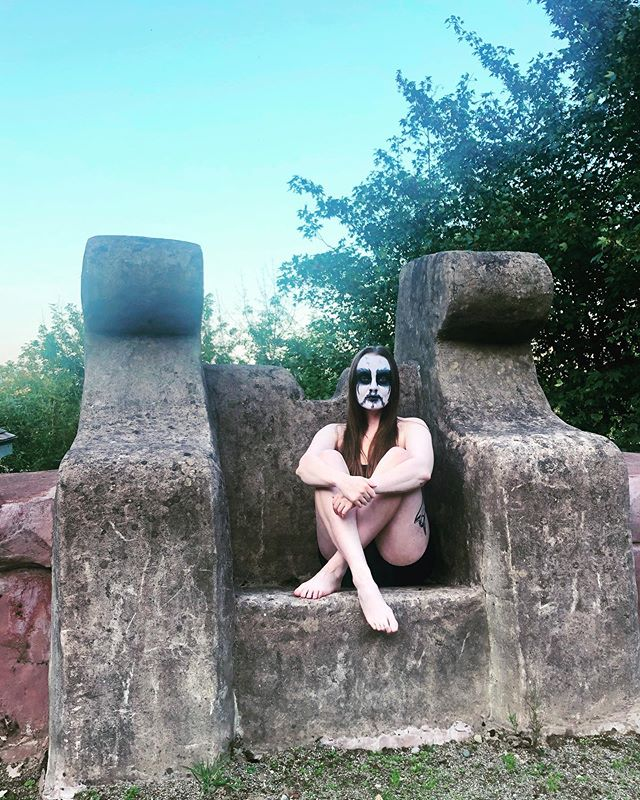 My Darkthrone. 🖤🖤🖤 . . . . . #corpsepaint #darkthrone #blackmetal #metalheadgirl #swimsuit