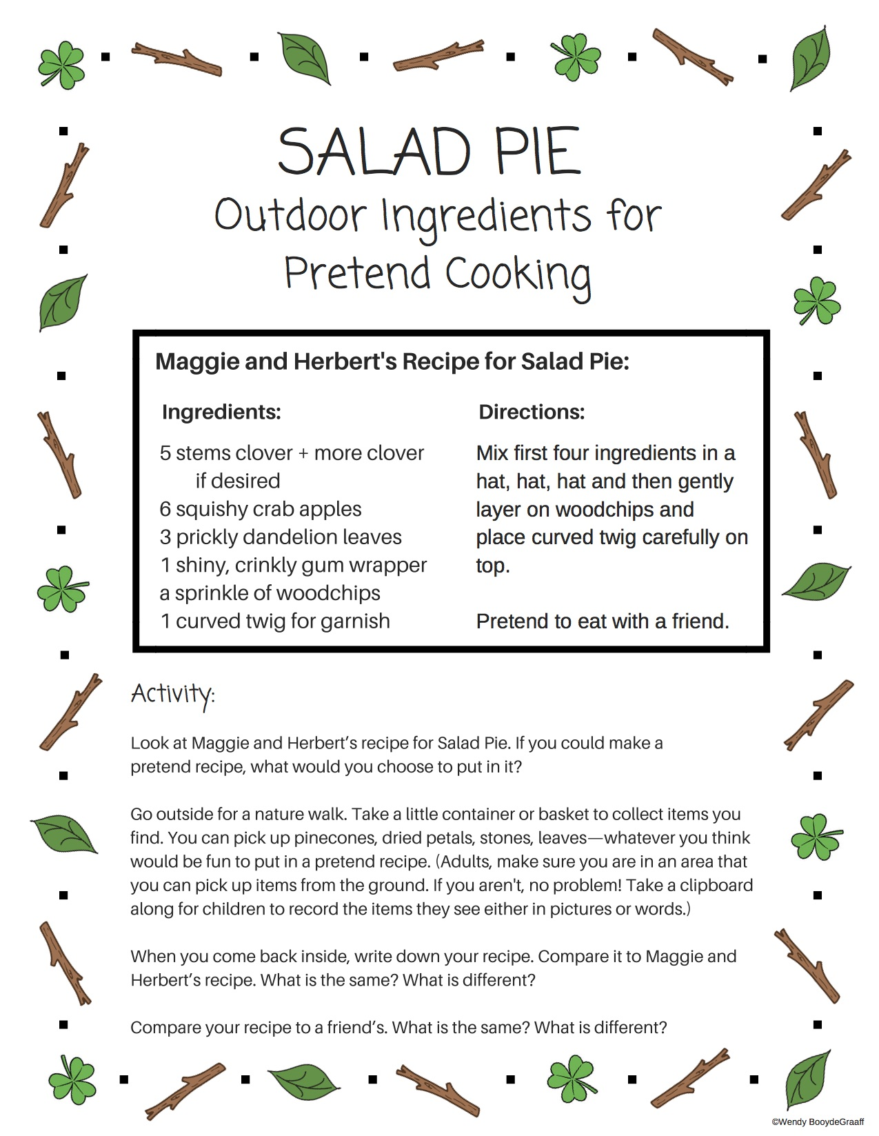 Make your own Salad Pie recipe
