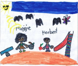 Sabina's illustration of Maggie and Herbert together.