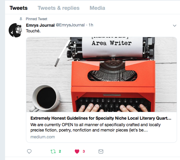 Extremely Honest Guidelines for Specialty Niche Local Literary Quarterly Review Journal,  Emrys Journal Online   humour