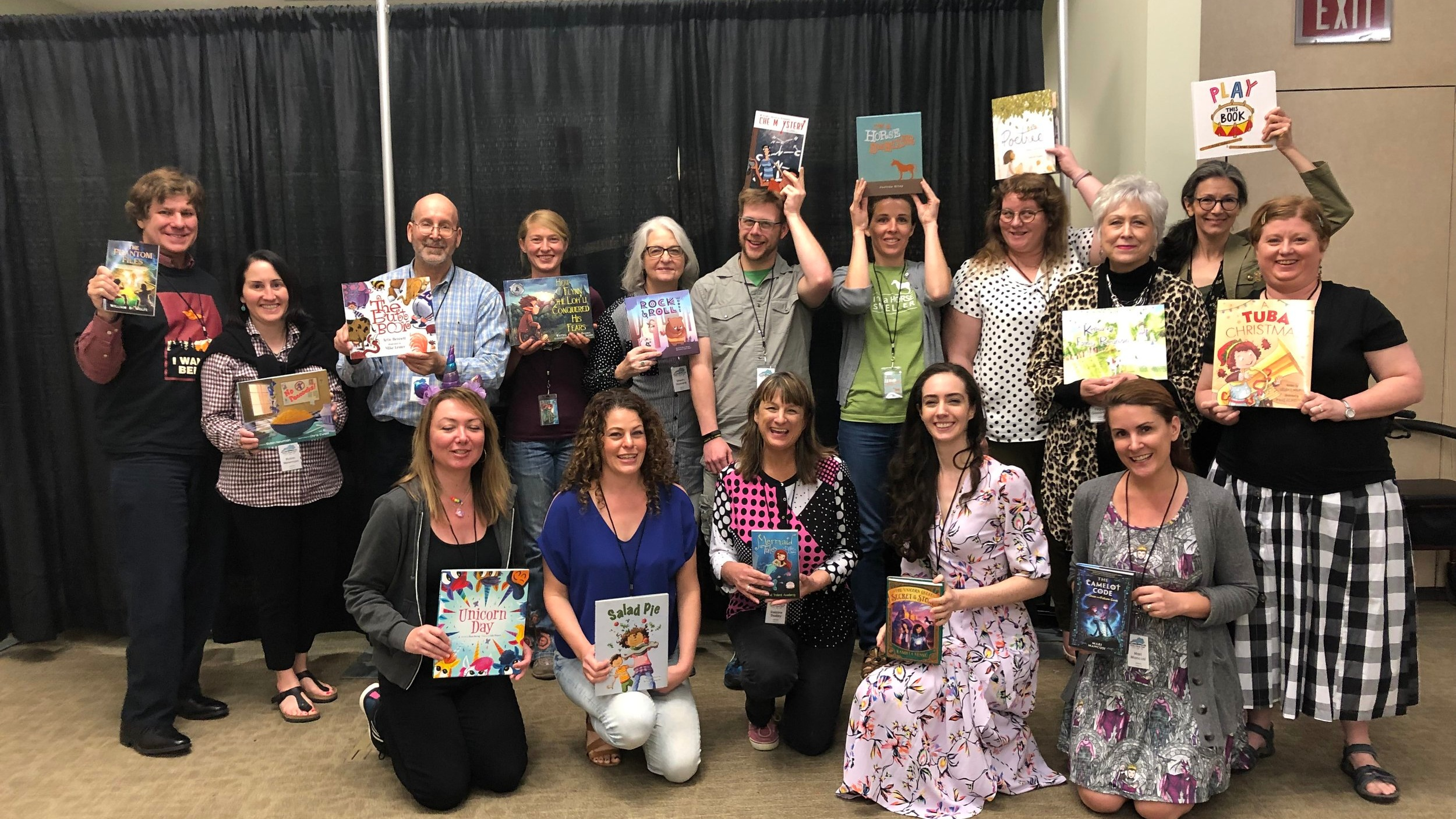 These are only a few of the children's book authors and illustrators at the festival. There were over 150 authors there.