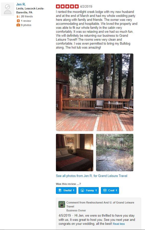 Jen's Review of Great Lodge on Moonlight Drive.JPG