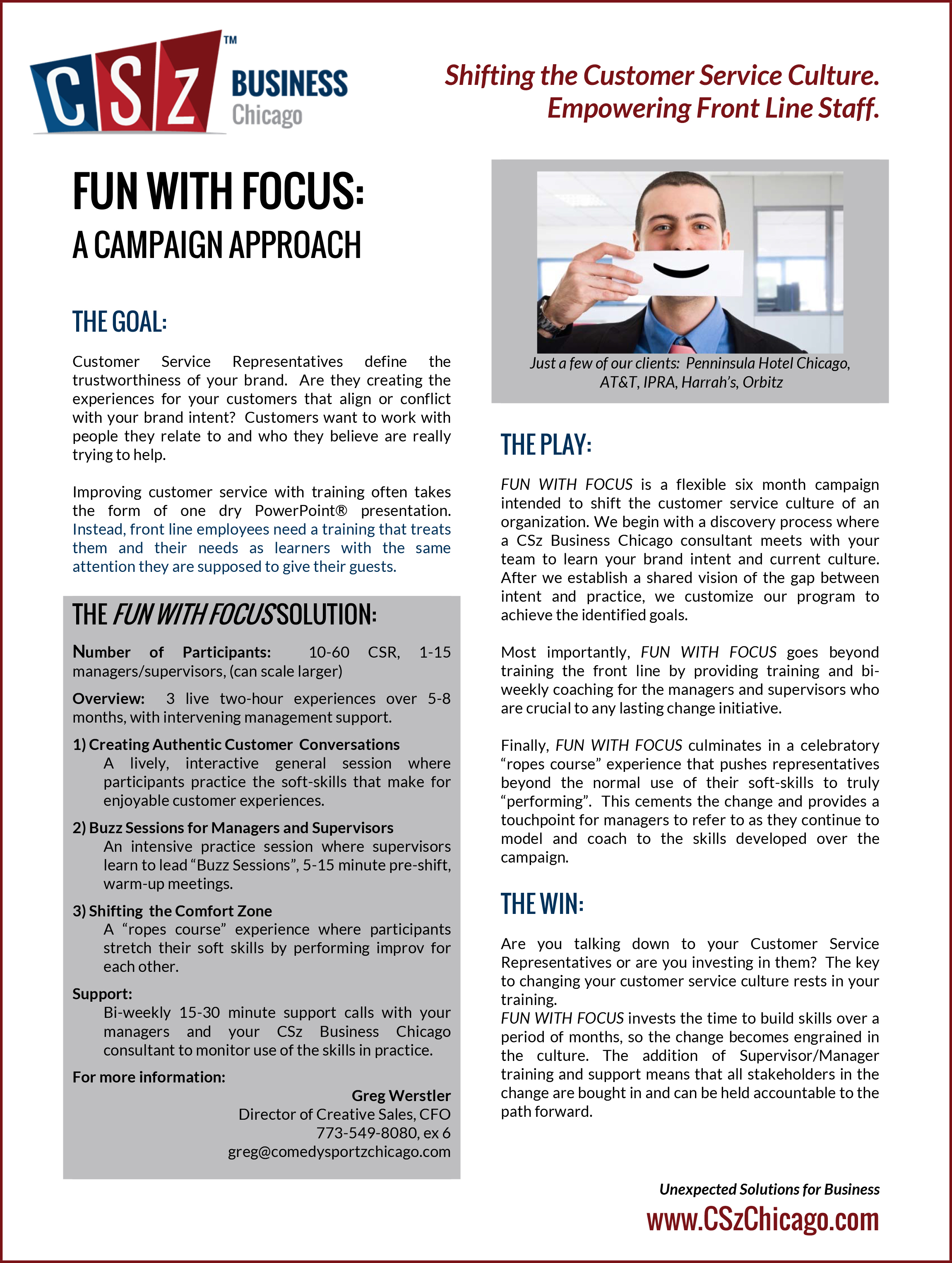 Fun With Focus - CSz Business Chicago Customer Service Campaign.jpg