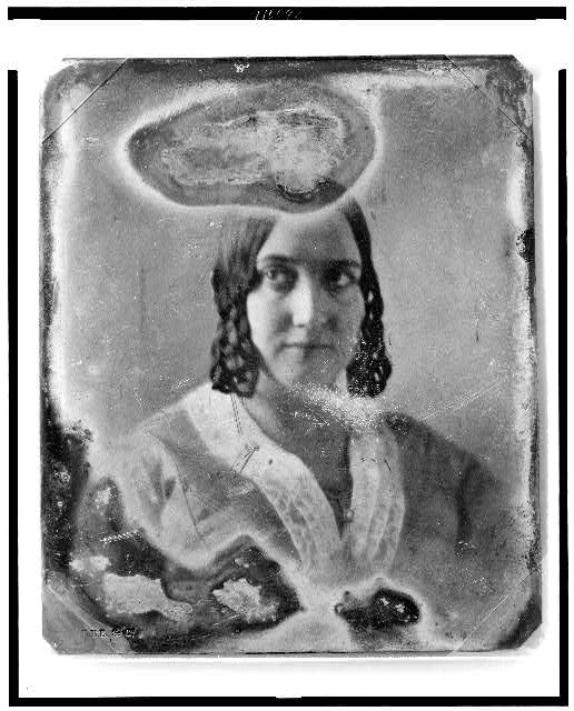 Photo of unidentified woman between 1844-1860 from the  Library of Congress .