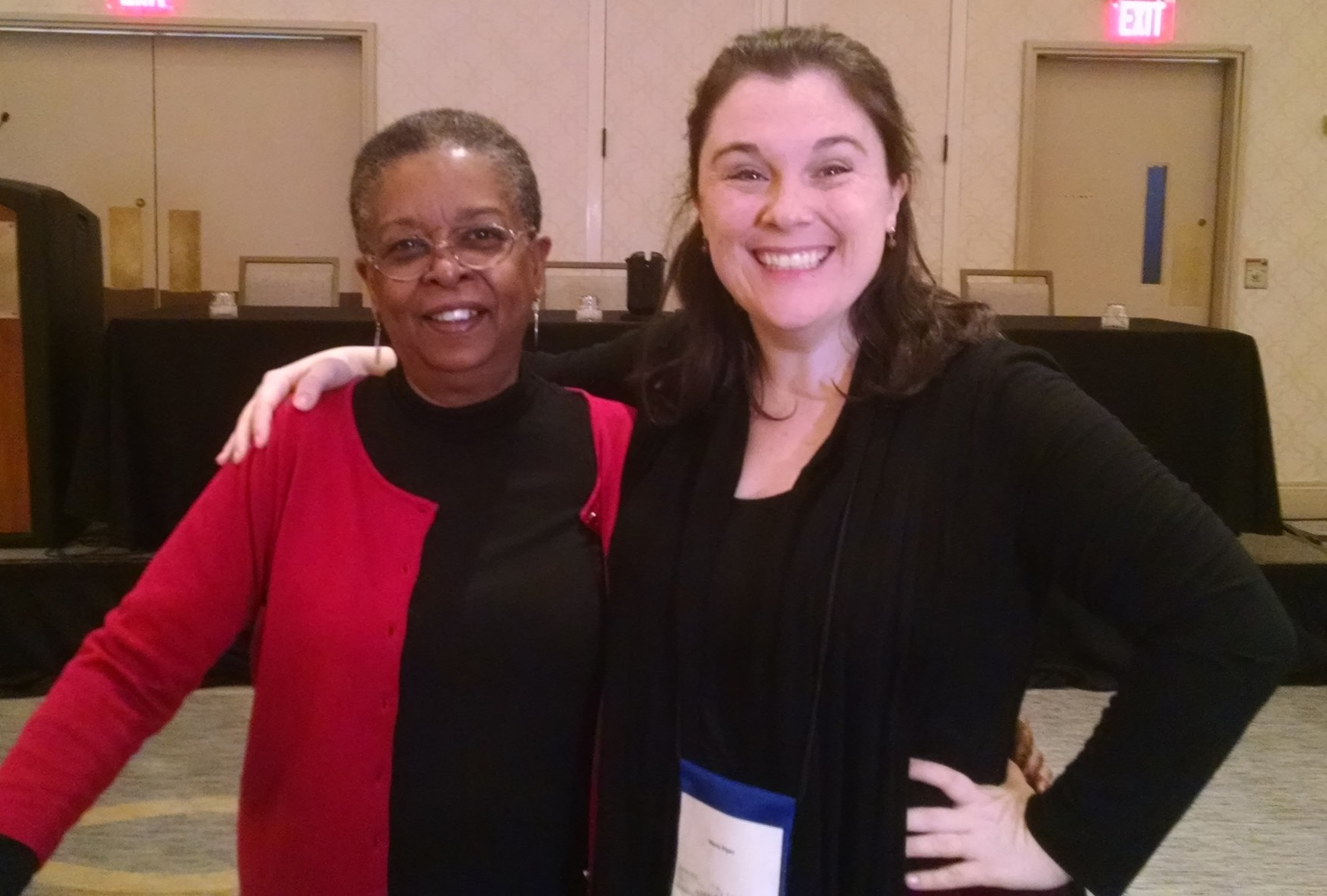 As a writer and lifelong fan of American Historicals, Beverly Jenkins is a legend. Getting to hear her speak out writing and her career--and getting to meet her-- was a highlight of the whole event.