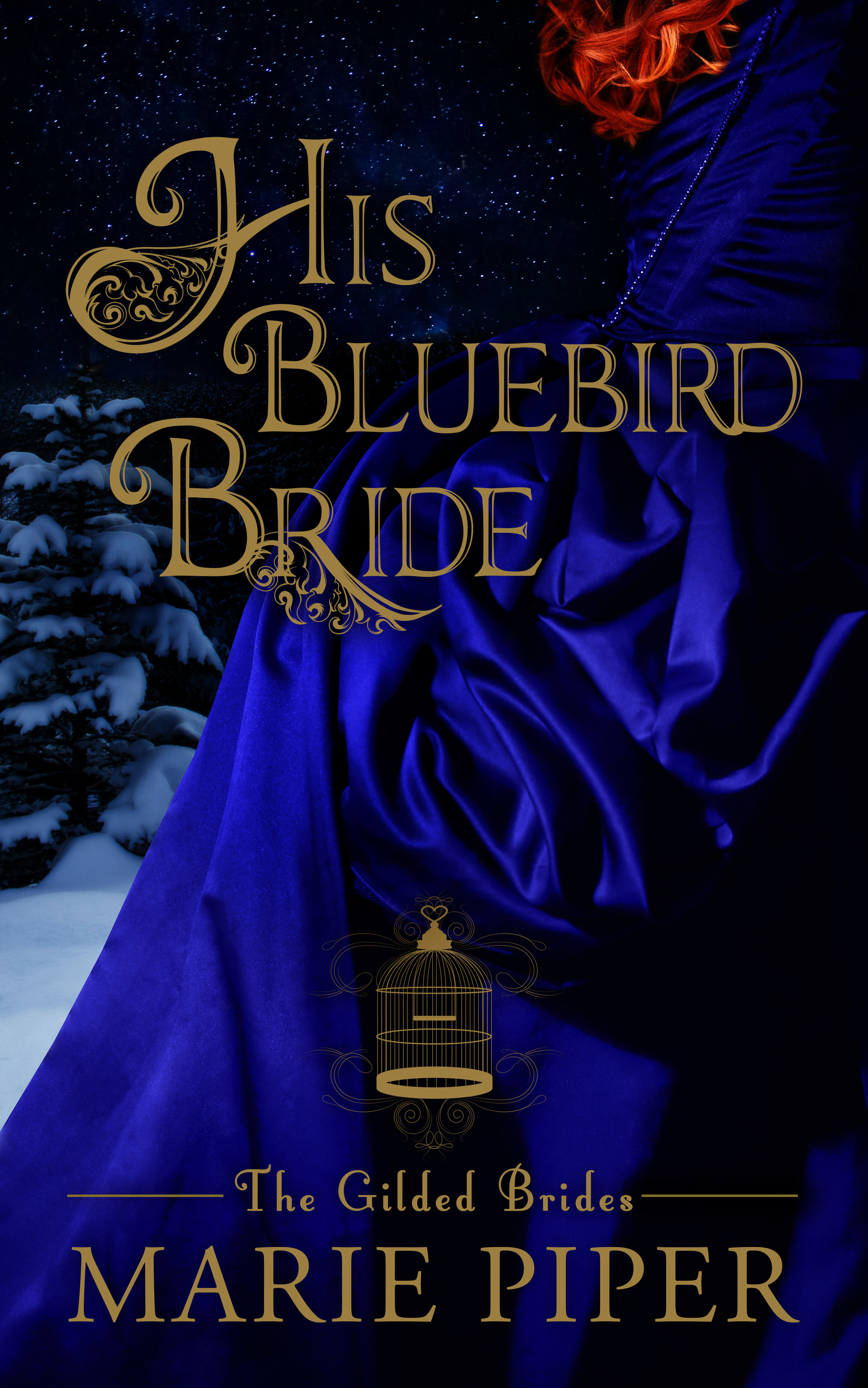 His Bluebird Bride - Gilded Brides #1Available in ebook and paperbackBillie the Bluebird has had enough. For six years she's worked as Madam of The Gilded Cage, an upscale brothel in New Orleans, waiting for her lover—the club's owner—to marry her. When instead he breaks her heart, she answers a mail-order bride advertisement from a little town called Dancer in the wild Dakota territory, as far away from New Orleans as possible. Claiming to be a widow named Willa, she arrives just before Christmas and marries the kind and responsible town doctor Elijah Higgins.Once, Elijah dreamed of a life full of adventure like in the dime store novels he loves, but Dancer is a tough place. Elijah is thrilled his bride appears to be a hard-working woman of simple tastes. Life is about responsibilities, and love is an afterthought at best.Through preparation for Dancer's holiday party and the coming of winter snows, Billie and Elijah find themselves drawn closer together into a passion neither expected and that neither can resist. When Dancer is threatened, only Billie can save it. To be the miracle the town needs, will she reveal her sordid past and risk her chance at a happy future?