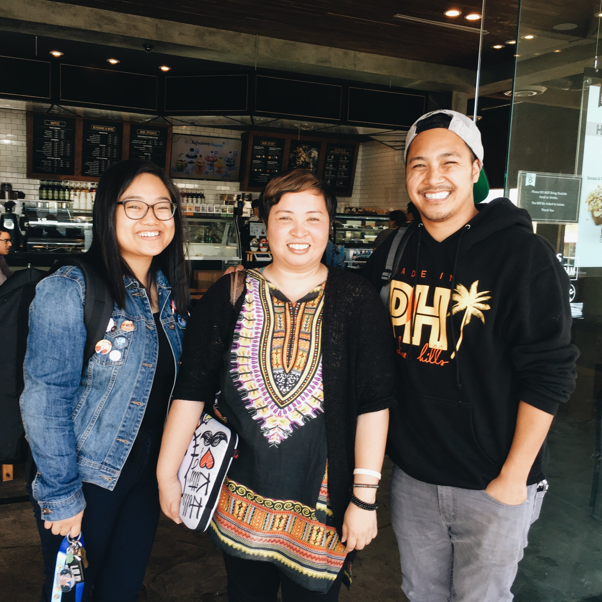 Writer Sam Andico, Anna Sarao, and Made in PH co-founder Jayrell Ringpis