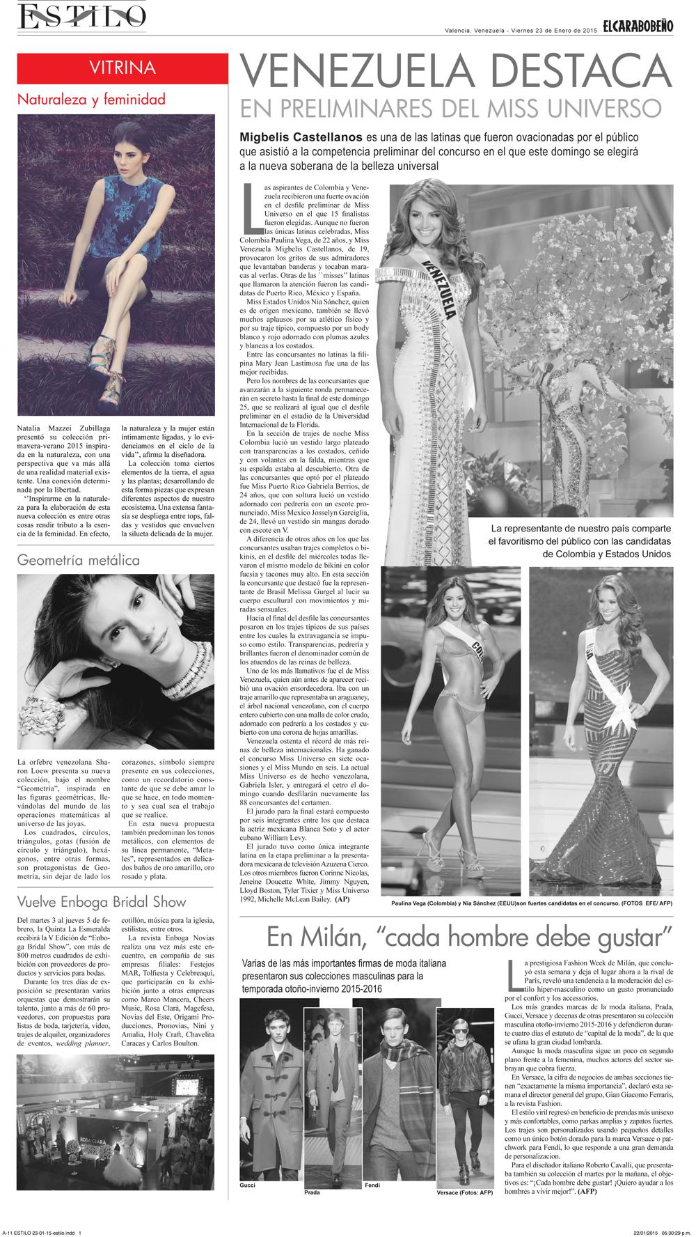Diario EL CARABOBEÑO - Enero 2015