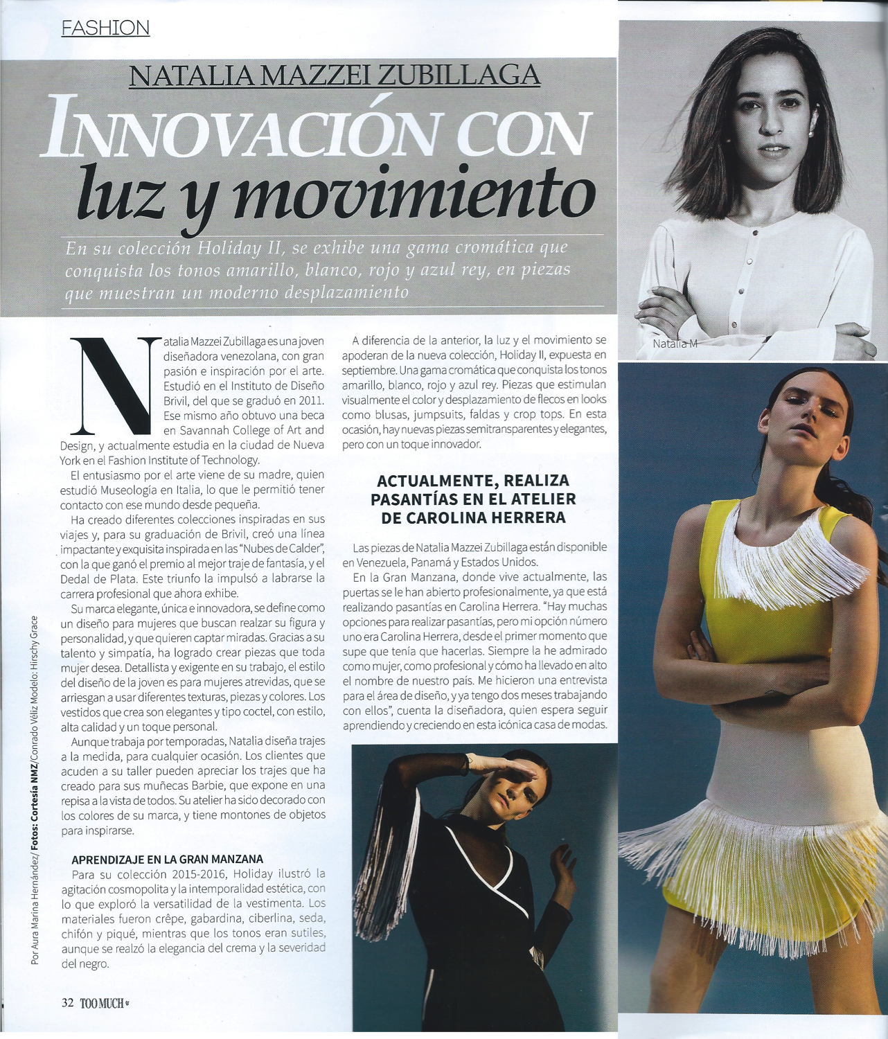 Revista TOO MUCH - Diciembre 2016