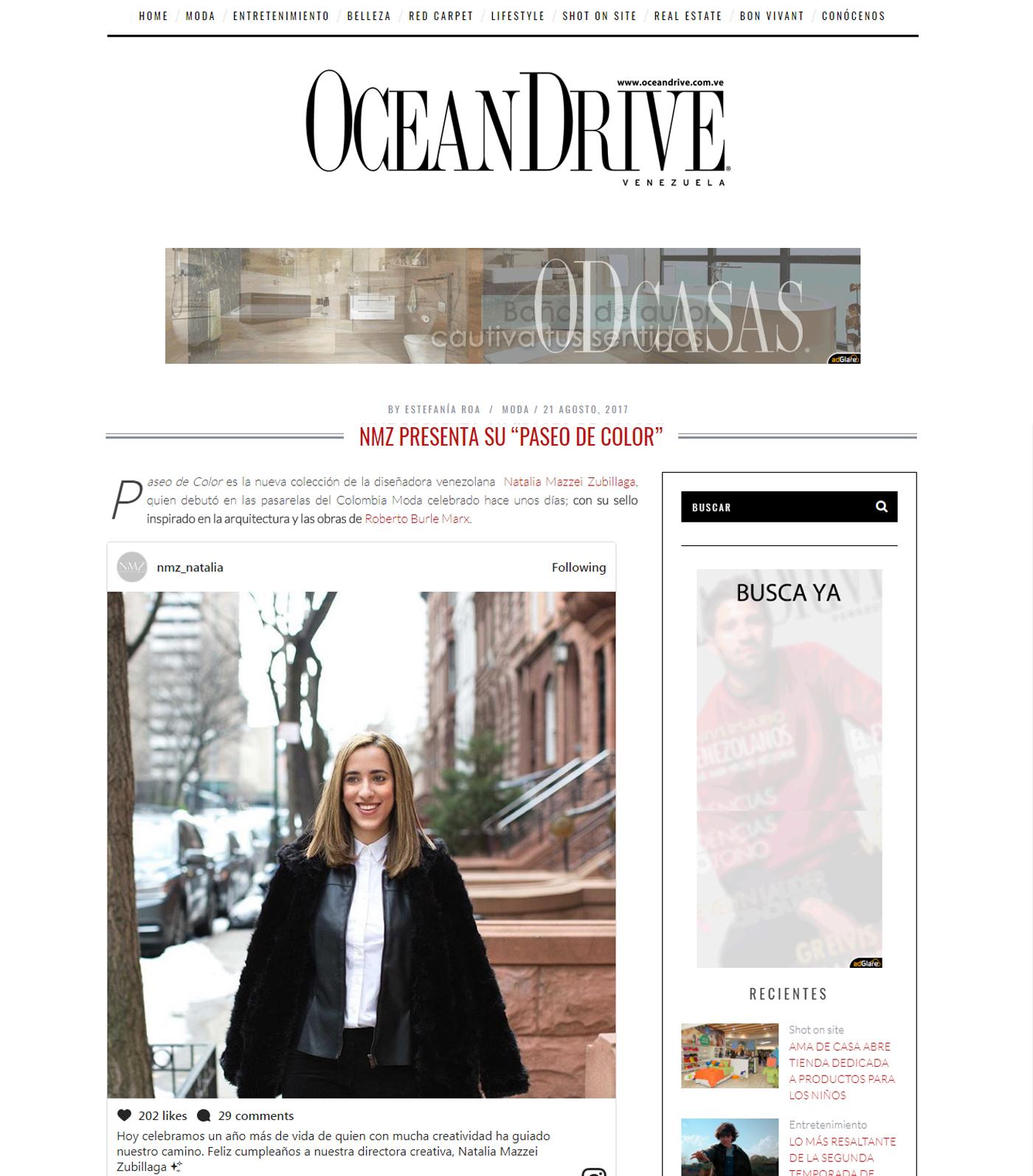 www.oceandrive.com.ve  - Agosto 2017