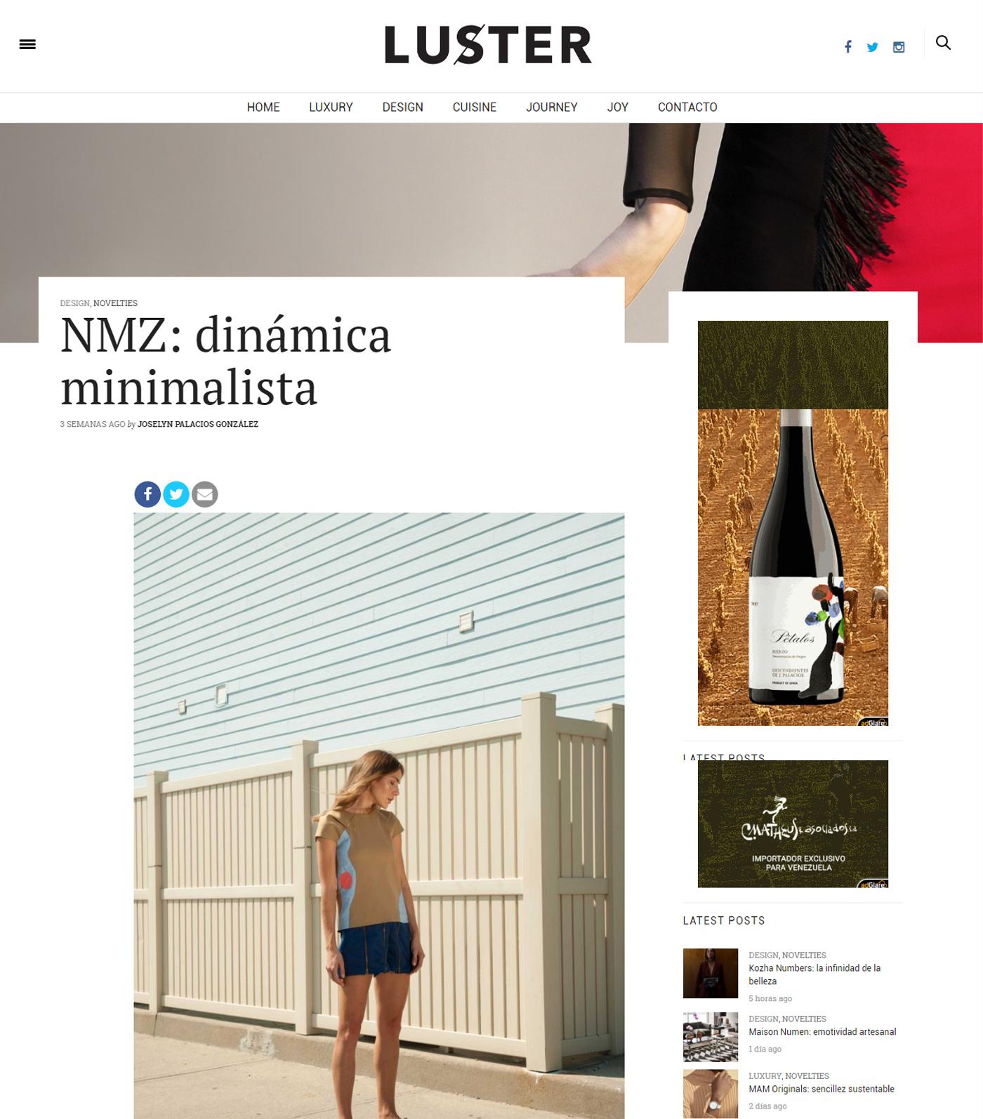 www.lustermagazine.com  - Noviembre 2017