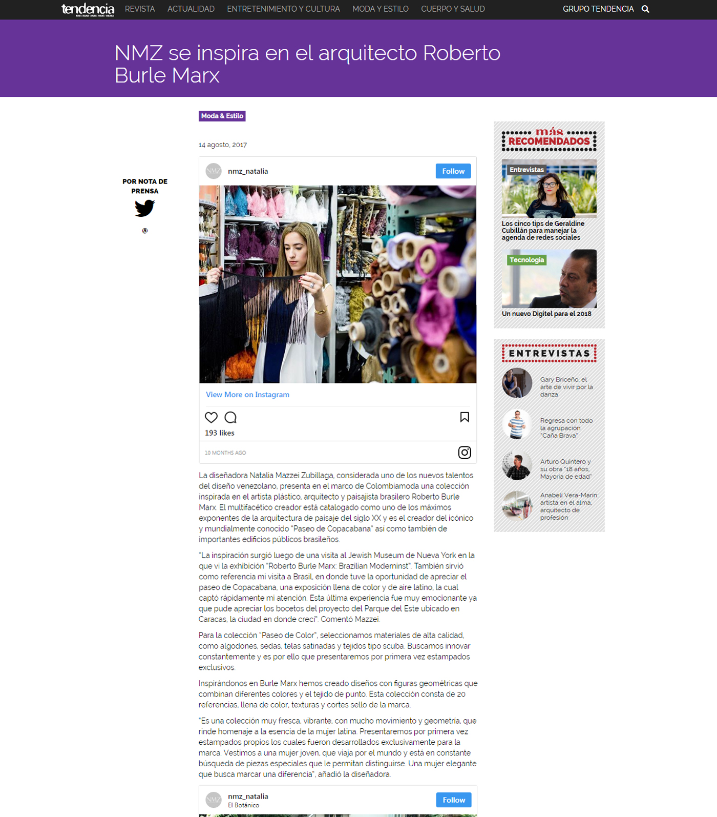 www.tendencia.com  - Agosto 2017